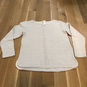 H&M white and gray long sleeve sweater top